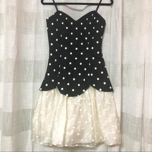 Vintage Nuance 80s 90s polka dot dress
